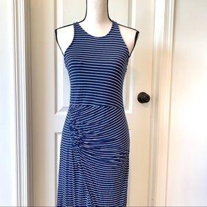 GAP Ruched Front Striped Halter Maxi Dress—SZ. Sm